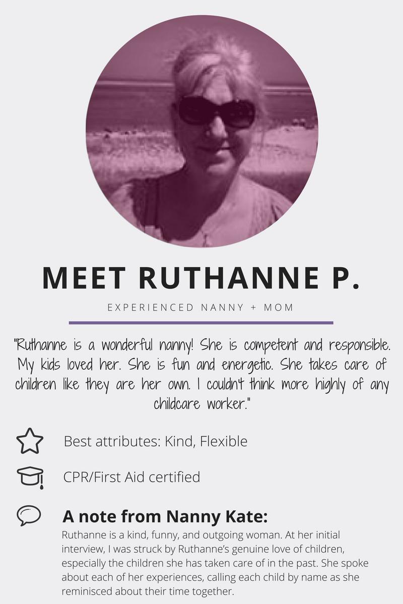 Meet Ruthanne P. | Nanny Kate & Co.